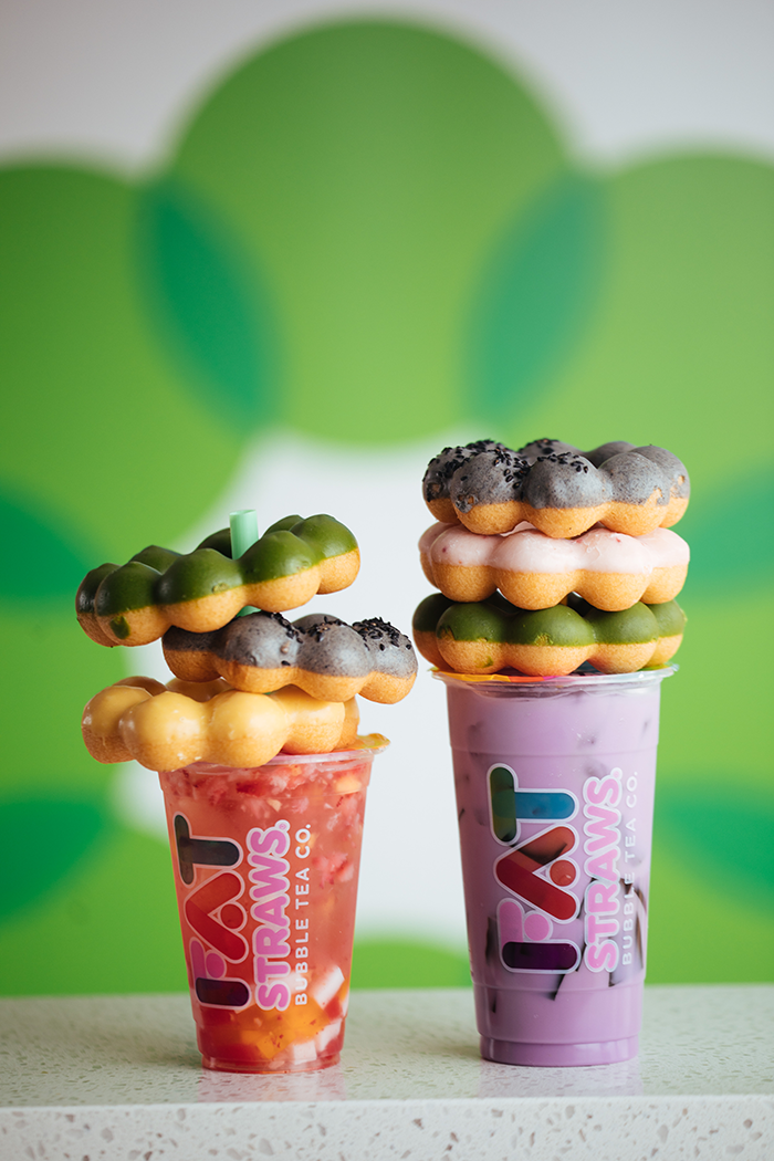 Fat Straws Boba and Mochi donuts